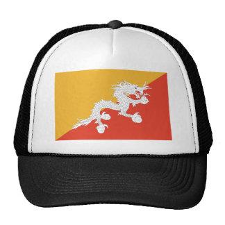 Kingdom of Bhutan flag, dragon fire Trucker Hat