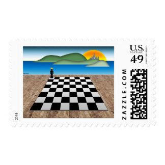 Kingdom of Chess Postage Stamp