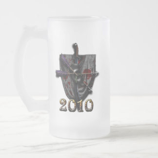 Kingdom of DragonFen 2010 Masquerade Frosted Glass Frosted Glass Beer Mug