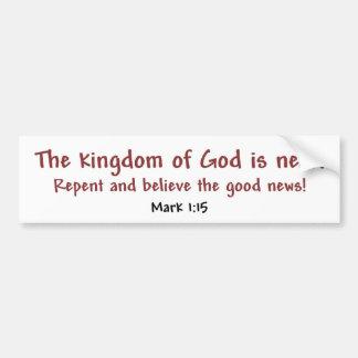 Kingdom of God (white) Bumper Sticker