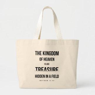 Kingdom of Heaven Treasure (Matthew 13:44) Large Tote Bag