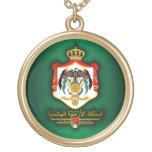 Kingdom of Jordan COA (Arabic) Round Pendant Necklace