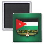 Kingdom of Jordan Flag (Arabic) 2 Inch Square Magnet