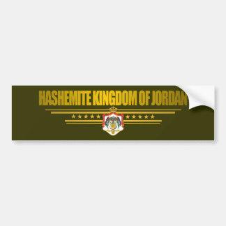 Kingdom of Jordan Flag Bumper Sticker