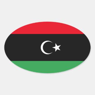 Kingdom of Libya Flag (1951-1969) Oval Sticker