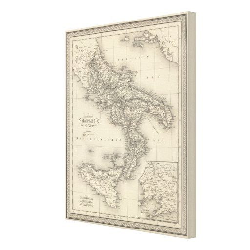 Kingdom of Naples Stretched Canvas Print