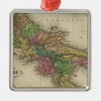 Kingdom of Naples or The Two Sicilies 2 Metal Ornament