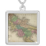 Kingdom of Naples or The Two Sicilies 2 Square Pendant Necklace