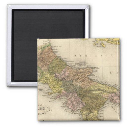 Kingdom of Naples or The Two Sicilies Fridge Magnets