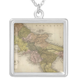Kingdom of Naples or The Two Sicilies Square Pendant Necklace
