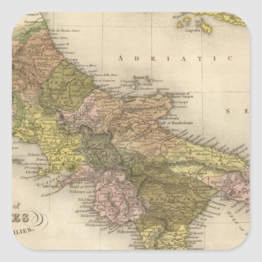 Kingdom of Naples or The Two Sicilies Square Sticker
