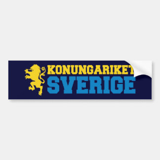 Kingdom of Sweden Bumper Sticker