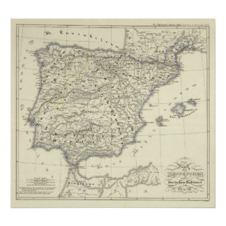 Kingdom of the Visigoths, Iberian Peninsula Poster