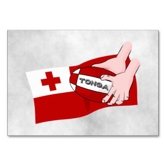 Kingdom of Tonga Rugby Flag Card
