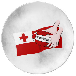 Kingdom of Tonga Rugby Flag Plate