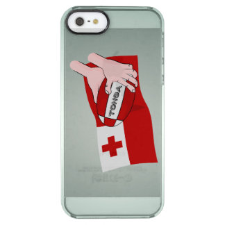 Kingdom of Tonga Tongan Rugby Ball Flag Clear iPhone SE/5/5s Case