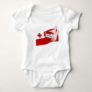 Kingdom of Tonga Tongan Rugby Flag Baby Bodysuit