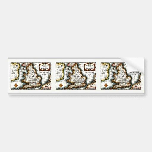 Kingdome del mapa/de la bandera de Inglaterra (Rei Etiqueta De Parachoque