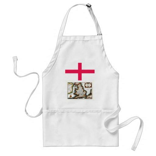 Kingdome del mapa/de la bandera de Inglaterra (Rei Delantal