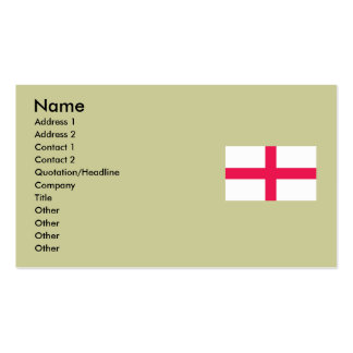 Kingdome of England (Kingdom of England) Map/Flag Double-Sided Standard Business Cards (Pack Of 100)