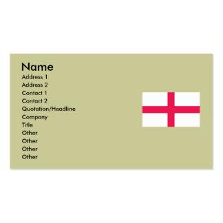 Kingdome of England (Kingdom of England) Map/Flag Business Card Template