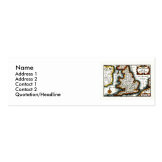 Kingdome of England (Kingdom of England) Map/Flag Double-Sided Mini Business Cards (Pack Of 20)