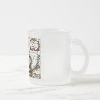 Kingdome of England (Kingdom of England) Map/Flag Frosted Glass Coffee Mug