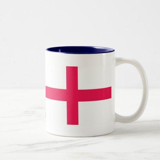Kingdome of England (Kingdom of England) Map/Flag Coffee Mugs