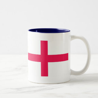 Kingdome of England (Kingdom of England) Map/Flag Two-Tone Coffee Mug