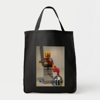 Kingdoms Lion Knight Minifigure Grocery Tote Bag