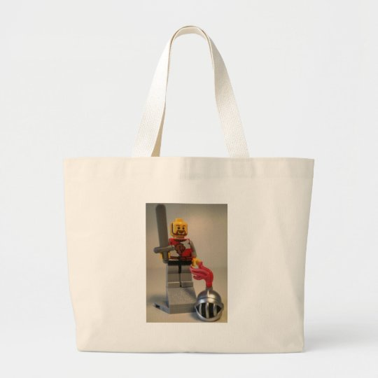 Kingdoms Lion Knight Minifigure Large Tote Bag
