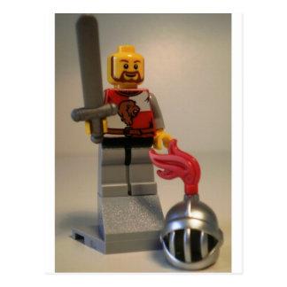 Kingdoms Lion Knight Minifigure Postcard