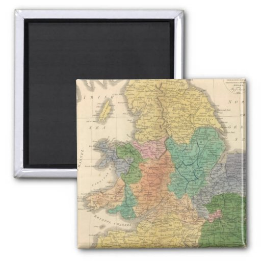 Kingdoms of the Anglo Saxons 2 Inch Square Magnet