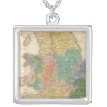 Kingdoms of the Anglo Saxons Square Pendant Necklace
