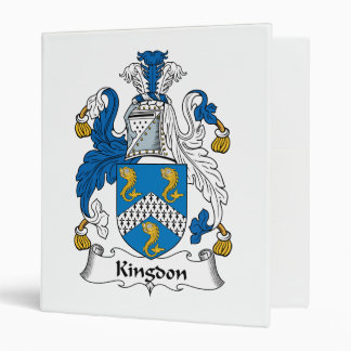 Kingdon Family Crest Vinyl Binders