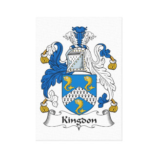 Kingdon Family Crest Stretched Canvas Print