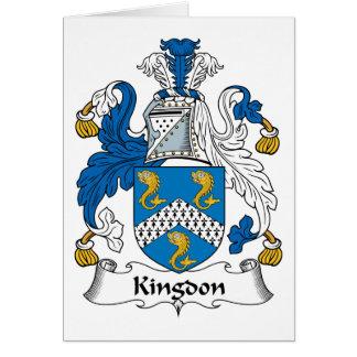 Kingdon Family Crest Card