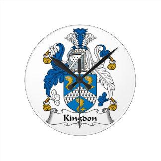 Kingdon Family Crest Clock