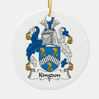 Kingdon Family Crest Christmas Ornaments