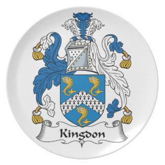 Kingdon Family Crest Dinner Plates