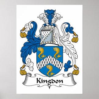 Kingdon Family Crest Poster