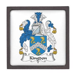Kingdon Family Crest Premium Jewelry Box
