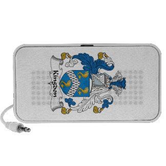 Kingdon Family Crest Notebook Speaker