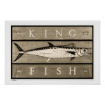 Kingfish Vintage B&W Posters, Prints and Frames
