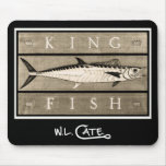 Kingfish Vintage Black & White Mouse Pads
