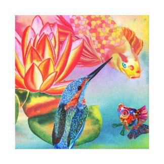 Kingfisher and Goldfish canvas print