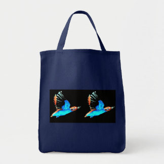 Kingfisher at Night Tote Bag