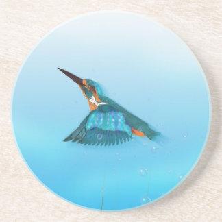 Kingfisher Bird Drink Coaster