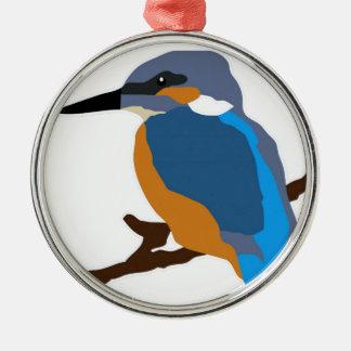 kingfisher bird waiting for love peace joy metal ornament