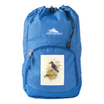 Kingfisher Birds Animals Vintage Wildlife Backpack